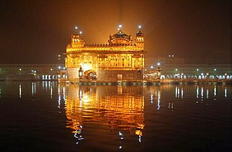 Soup kitchen - The Harmandir Sahib at night