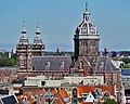 Amsterdam Oude Kerk Blick vom Turm auf die Basiliek H. Nicolaas 2.jpg