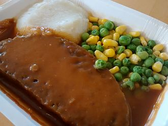 Amy's Kitchen - Amy's veggie loaf with mashed potatoes and vegetables