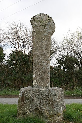 Bodmin - A Cornish cross on Old Callywith Road