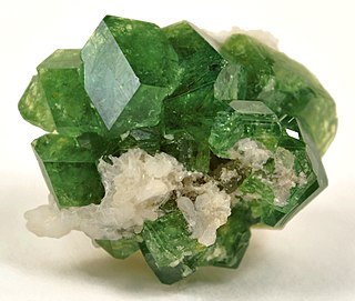 Demantoid green andradite variety