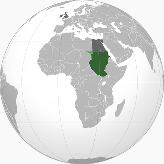 Anglo-Egyptian Sudan - Green: Anglo-Egyptian Sudan Light green: Ceded to Italian Libya in 1934 Dark grey: Egypt and the United Kingdom