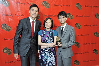 Now TV (Hong Kong) - Annie cheng and the crew of Sichuan Earthquake- One Year on at the 69th Annual Peabody Awards