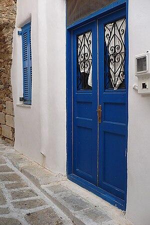Antiparos house door