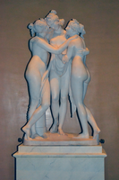 Antonio Canova (1757-1822) - The Three Graces, Woburn Abbey version (1814-1817) front, Victoria and Albert Museum, August 2013 (11059669883).png