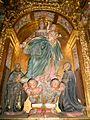 Arceniega - Santuario de Nuestra Señora de la Encina, interiores, retablo de N. S. del Rosario 6.jpg