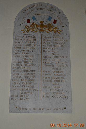 Arcens - Arcens War Memorial