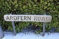 Ardfern Road sign, Downpatrick, January 2010.JPG