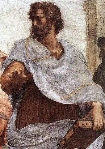 Aristotle in The School of Athens, by Raphael Aristotle-Raphael.JPG