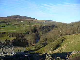 Arkengarthdale - Looking up lower Arkengarthdale towards Calver Hill