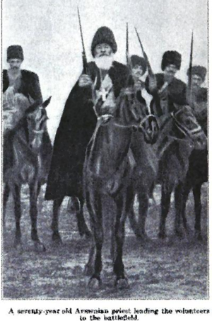 Armenian resistance during the Armenian Genocide - Seventy year old priest leading Armenians