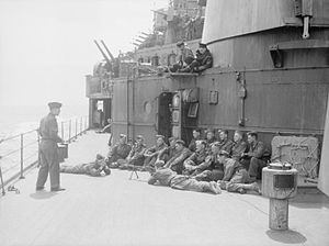 Army Troops Embarked in the Cruiser HMS Manchester. July 1941. A4657.jpg