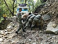 Army personnel busy in rescue operations in Pindari glacier, in Uttarakhand.jpg
