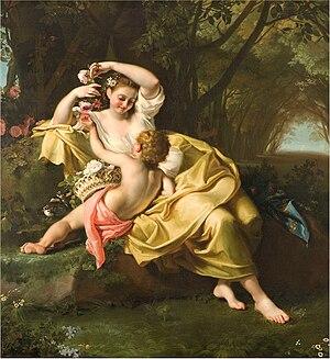 Bartolomeo Guidobono - Allegoria della Primavera (Fondazione Cariplo)