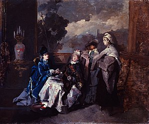 Domenico Induno - Image: Artgate Fondazione Cariplo Induno Domenico, Visita alla puerpuera