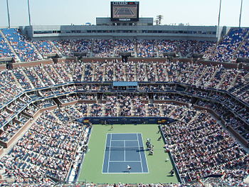 Interior Of Arthur Ashe Stadium During 2007 US...
