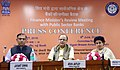 Arun Jaitley addressing a press conference, after holding the Quarterly Performance Review Meeting of the Chairman and Managing DirectorsCEOs of Public Sector Banks (PSBs) and Financial Institutions, in New Delhi.jpg
