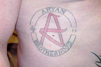 Aryan Brotherhood - A member's tattoo