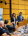Asra Hassan (left) and Sufian Ullah from the South Asian Strategic Stability Institute University, Pakistan. Before the CTBT can enter into force, Pakistan is one of the eight remaining countries that must ratify. (13957584949).jpg