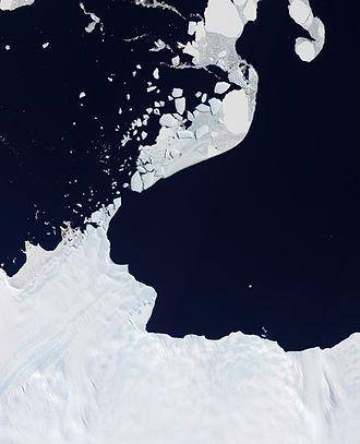 Astrolabe Glacier - Natural-colour satellite image of Astrolabe.