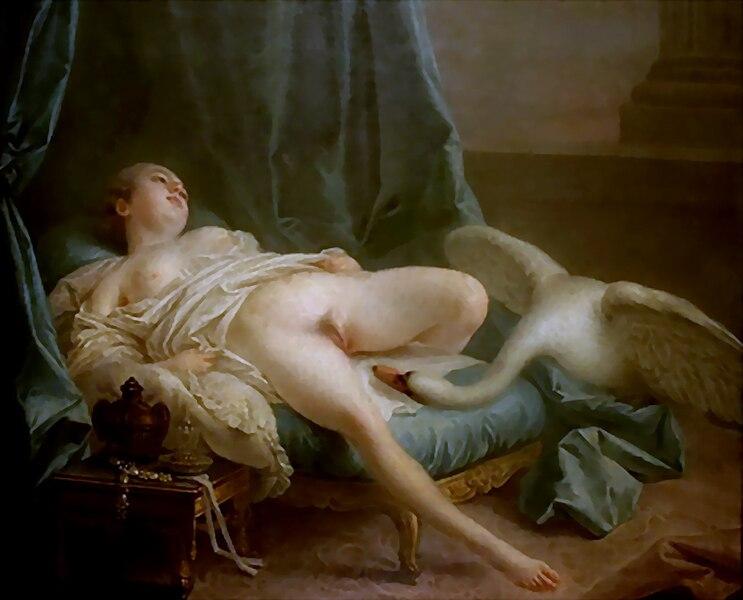 File:Attribué à François Boucher, Léda et le Cygne (vers 1740).jpg