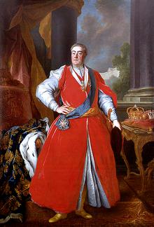August III. von Polen und Sachsen in polnischer Tracht, Louis de Silvestre, um 1737 (Quelle: Wikimedia)