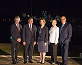 Australian Foreign Minister Smith, Secretary Panetta, Australian Prime Minister Gillard, Secretary Clinton, and Australian Foreign Minister Carr Pose for a Photo (8185950436).jpg