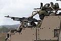 Australian soldier manning a machine gun in a High Mobility Transporter during Talisman Sabre 2019.jpg