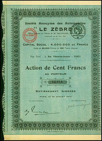 Le Zèbre - Image: Automobiles Le Zebre 1919