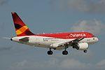 Avianca, Airbus A319, N593EL (15238765824).jpg