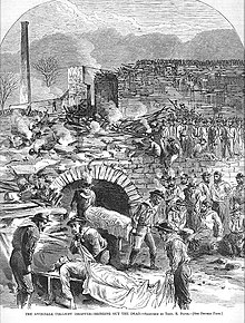 A scene from after the Avondale Mine disaster