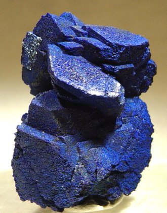 Mineral collecting - Azurite specimen from the Morenci mine, Morenci, Arizona, USA. Morenci is the largest copper mine in North America, and Morenci copper mineral specimens are beautiful, abundant, and relatively inexpensive.