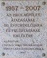 Bárdos Lajos utca 1-5, 1957-2007 emléktábla, 2019 Tapolca.jpg