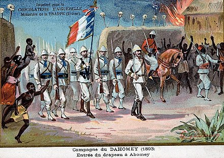 The French conquest of Dahomey in 1893 Benin- 1893.jpg