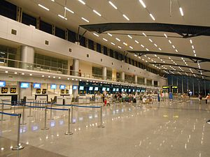 Da Nang International Airport - Departures hall.