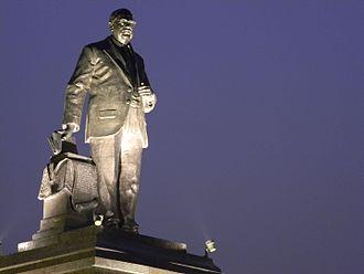 Dalit Buddhist movement - Statue of B.R.Ambedkar inside Ambedkar Park Lucknow