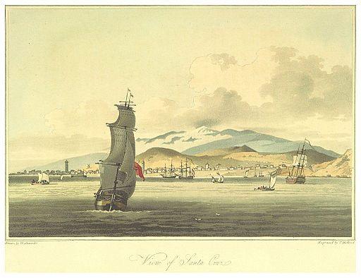 BARROW(1806) p063 VIEW OF SANTA CRUZ