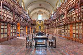 Biblioteca Palafoxiana Library in Puebla, Mexico