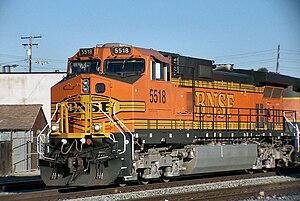 GE Dash 9-44CW - Image: BNSF Dash 9 44CW 5518