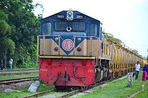 Bangladesh Railway Class 2900 - 2911 with oil tanker