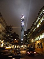 The BT Tower, completed in 1964 at 177 metres tall