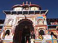 Badrinath Temple well lit Facade Closeup, Uttarakhand.JPG