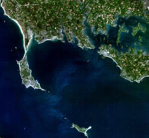 Quiberon Bay - Satellite image of the bay