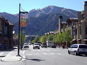 Ketchum, Idaho - Image: Bald Mountain Sun Valley Rd