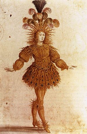 History of ballet - Louis XIV in Lully's Ballet Royal de la Nuit (1653).