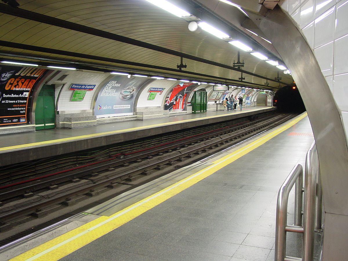 Banco De Espa A Madrid Metro Wikipedia