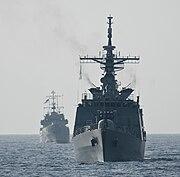 Bangladesh Navy Ships Bangabandhu (F-25), right, and Sangu (P-713)