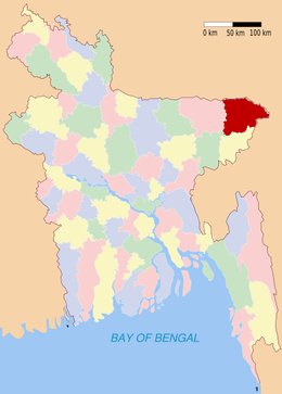 Bangladesh Sylhet District.png