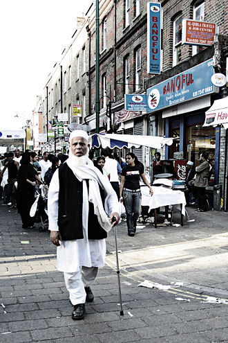 Brick Lane - An elderly Bangladeshi man in Brick Lane