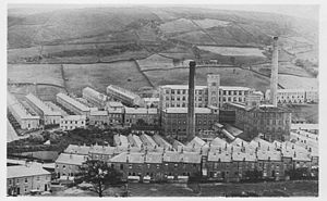 Bank Bottom Mill - Bank Bottom Mill in its heyday, c1923